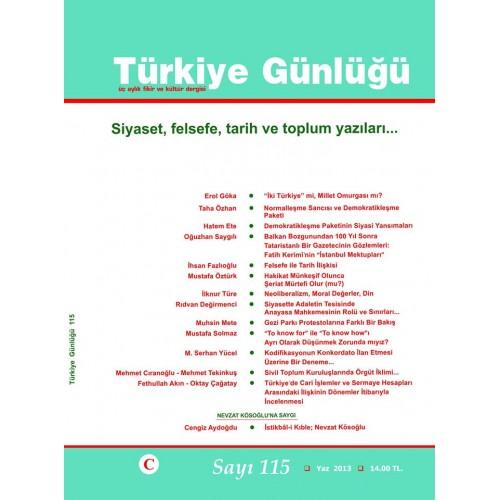Türkiye Günlüğü Sayı 115