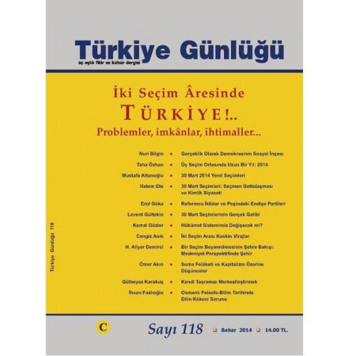 Türkiye Günlüğü Sayı 118