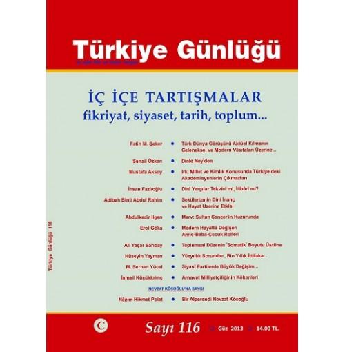 Türkiye Günlüğü Sayı 116